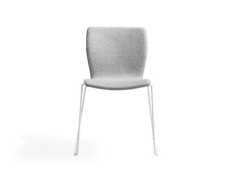 sled base fabric chair rio by lammhults m bel