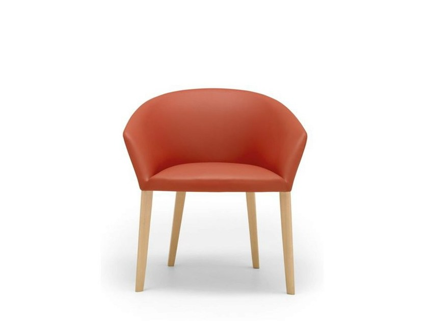 Upholstered restaurant chair with armrests BRANDY | Restaurant chair by Andreu World