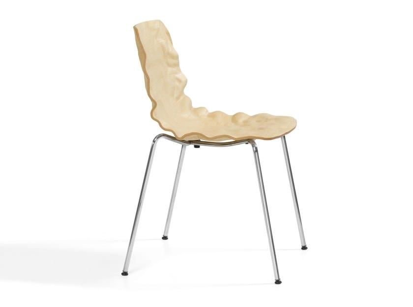 Stackable chair DENT STACK - Blå Station