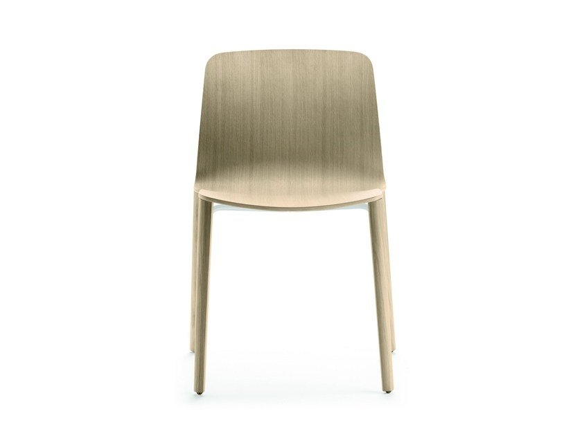 Stackable oak chair JANTZI | Chair - ALKI