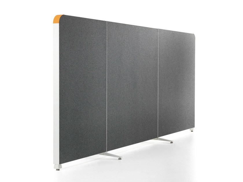Sound absorbing modular workstation screen ALUMI CURVES - Abstracta