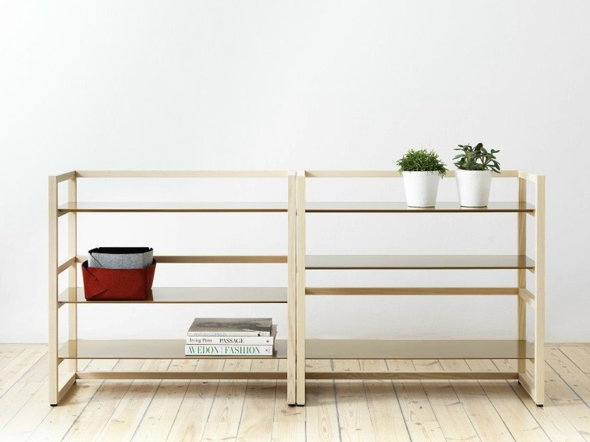 Wooden shelving unit TRE by Abstracta