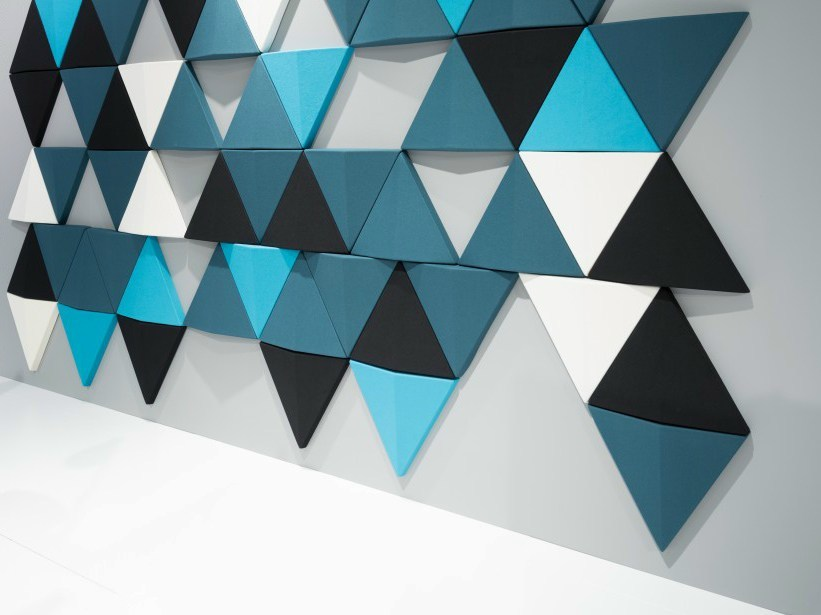Fabric decorative acoustical panel BITS WALL by Abstracta
