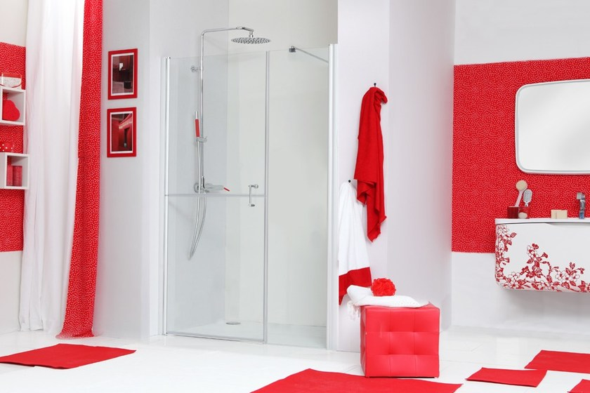 Niche shower cabin with hinged door WEB 5.0 B1F by MEGIUS