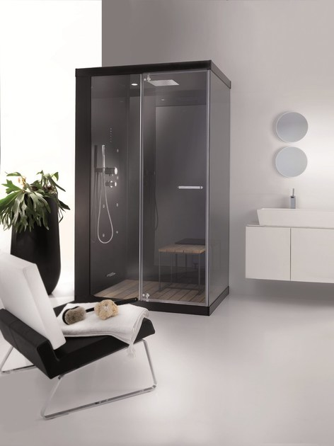 Box doccia multifunzione in alluminio e vetro WELLBOX - MEGIUS