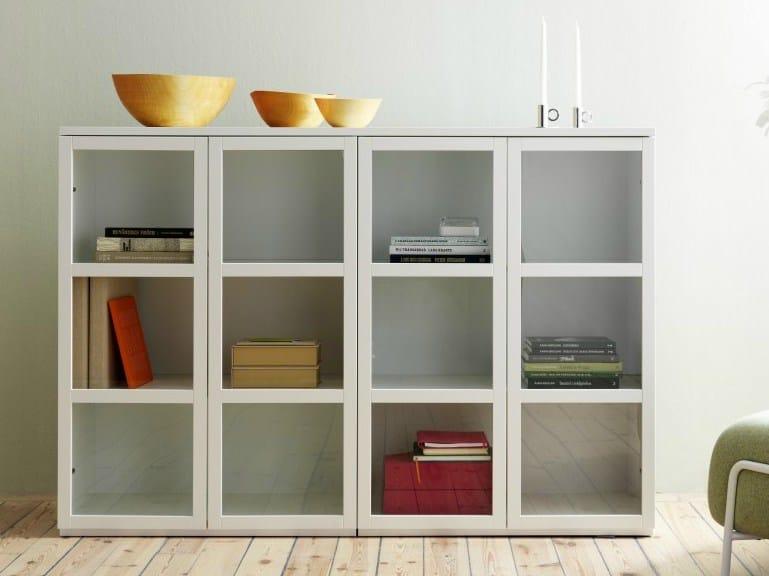 MDF shelving unit LIBRO - Abstracta