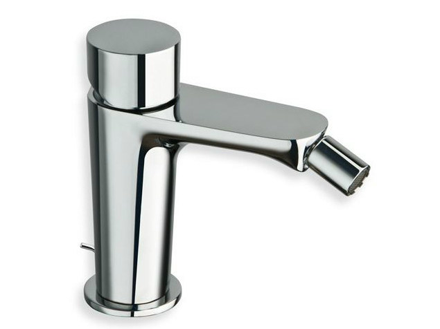 Single handle bidet tap with automatic pop-up waste