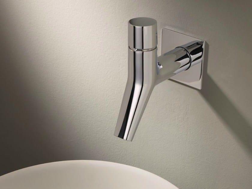 Wall-mounted chrome-plated washbasin mixer RUBINETTO by CRISTINA