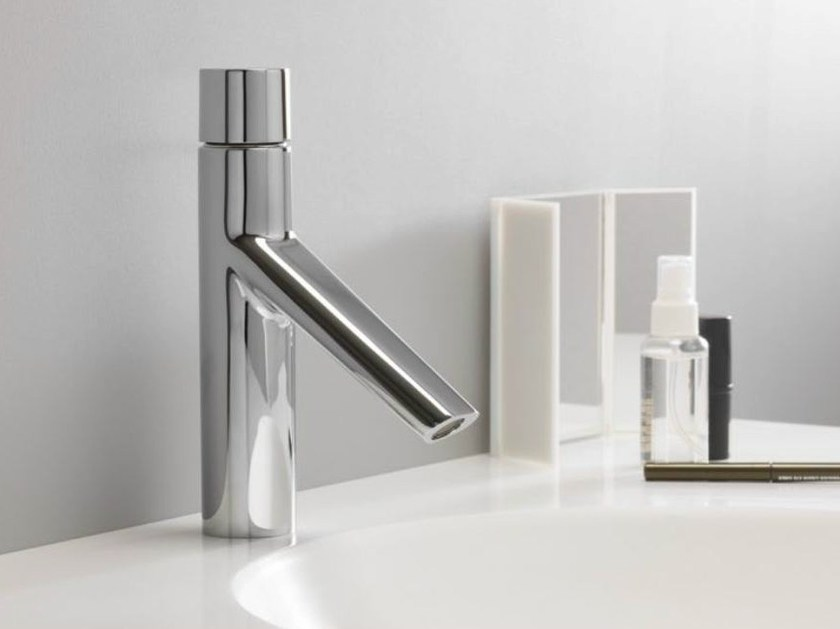 Chrome-plated single handle washbasin tap RUBINETTO by CRISTINA