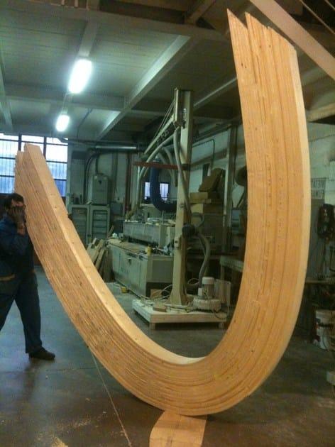 Travi curve in legno lamellare prezzi