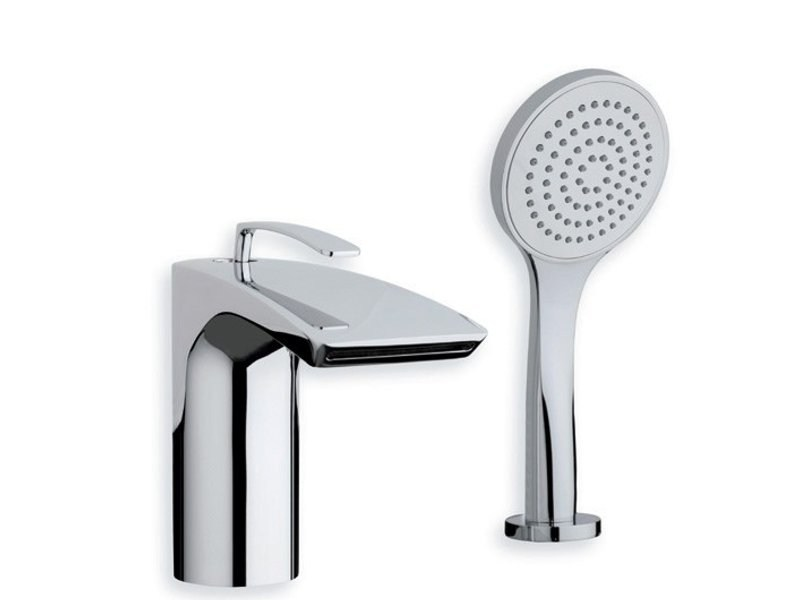 2 hole bathtub mixer with diverter with hand shower BOLLICINE - CRISTINA Rubinetterie