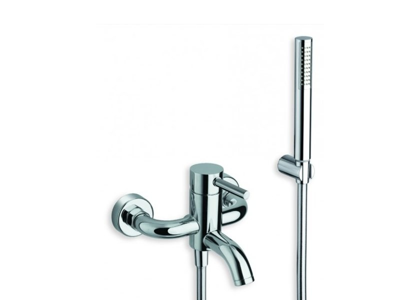 Single handle bathtub mixer with hand shower