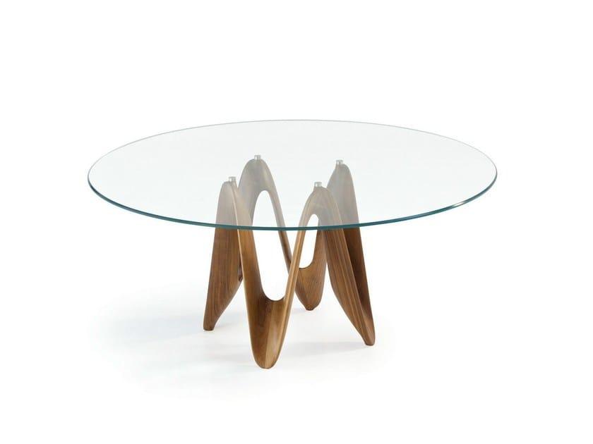 Tavolo rotondo in vetro lambda round sovet italia for Tavolo rotondo vetro