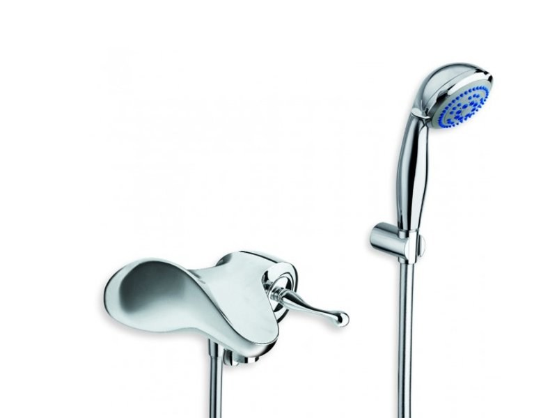 Wall-mounted bathtub mixer with hand shower