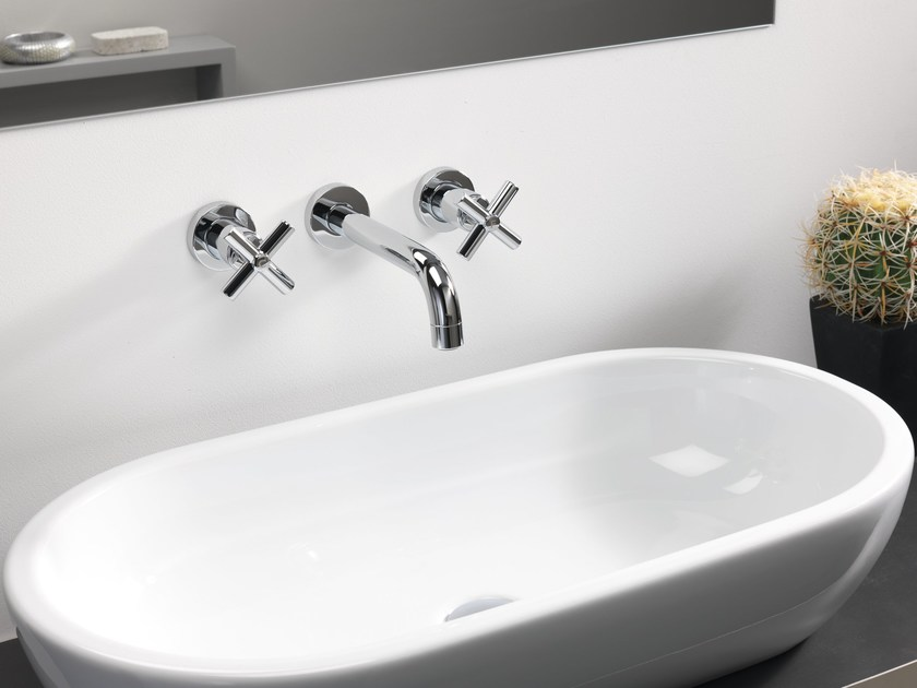 3 hole wall-mounted sink tap
