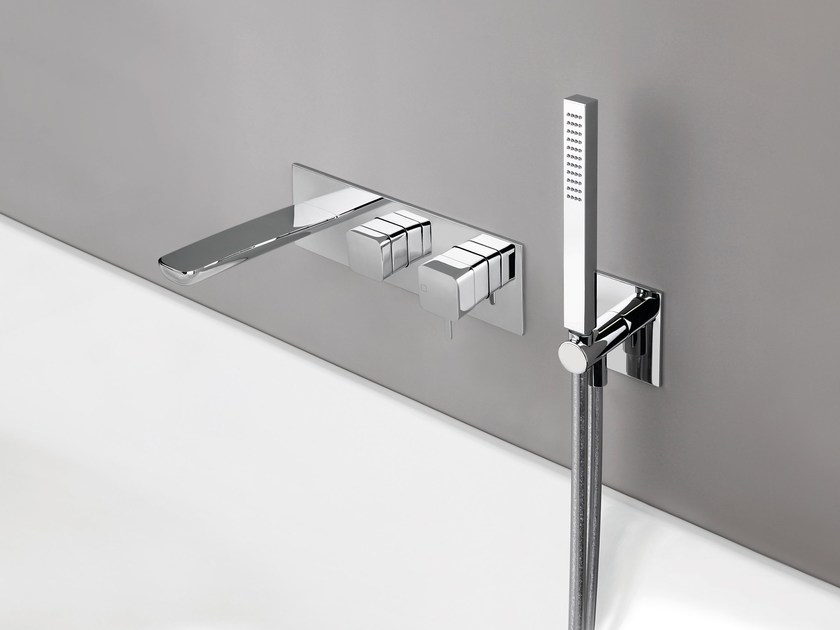 Shower mixer with diverter KING by CRISTINA