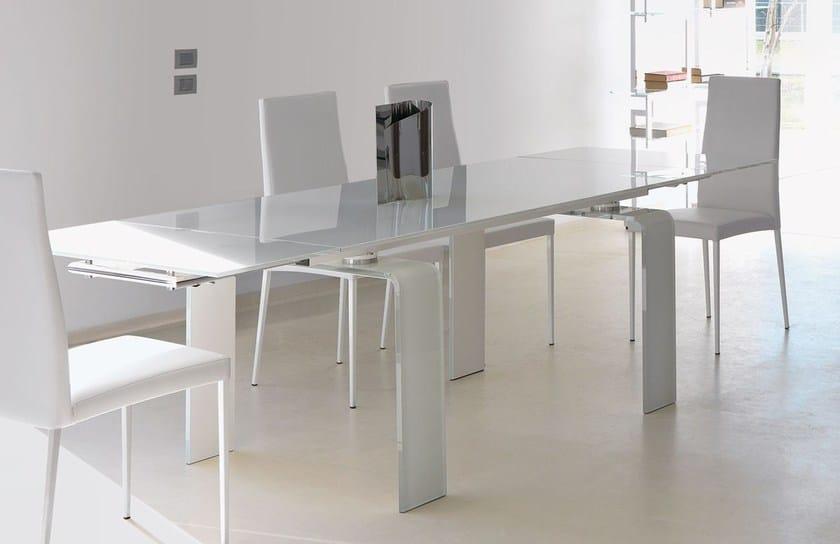 Tavolo allungabile da pranzo rettangolare in vetro design fortuny tavolo in vetro italy - Tavolo consolle allungabile mercatone uno ...