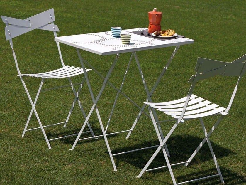 Folding steel garden chair SMART | Chair - Talenti