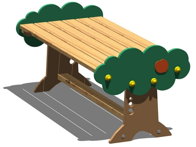 Pine Table for public areas ARANCIA | Table by Legnolandia