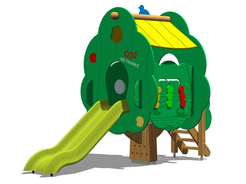 Polyethylene Play structure / Slide TREE TOWER 100-T1 by Legnolandia