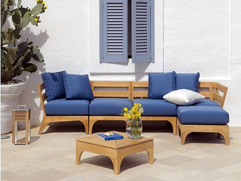 village sectional teak garden sofa village sectional sofa ethimo