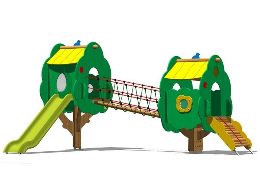 Pine Slide / Overhead ladder TREE CASTLE 4 - Legnolandia