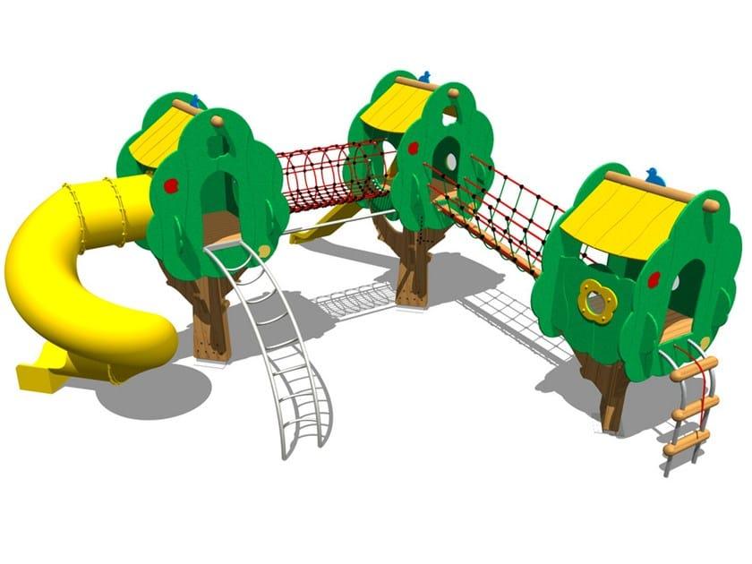 Polyethylene Overhead ladder / Tunnel TREE CASTLE 20 by Legnolandia