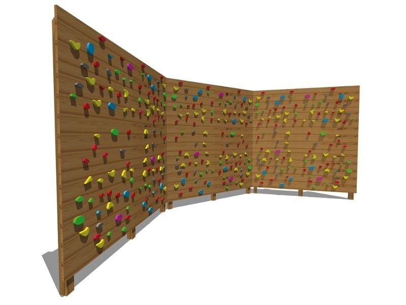 Wooden Climbing frame BOULDER HORIZONTAL WALL by Legnolandia