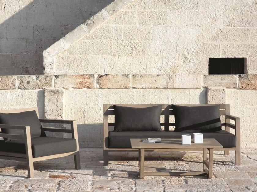 3 seater teak garden sofa COSTES | Garden sofa - Ethimo