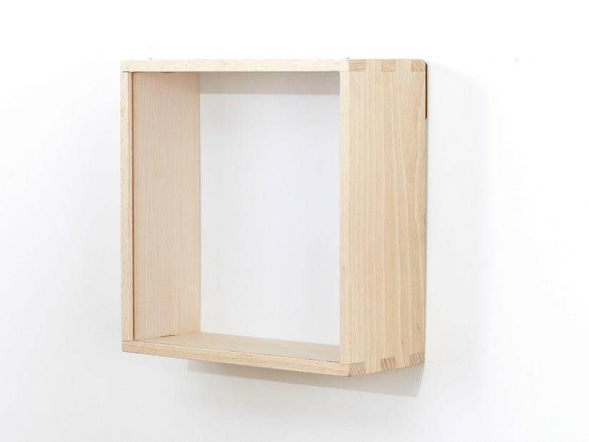 wandregal aus holz by eno studio. Black Bedroom Furniture Sets. Home Design Ideas