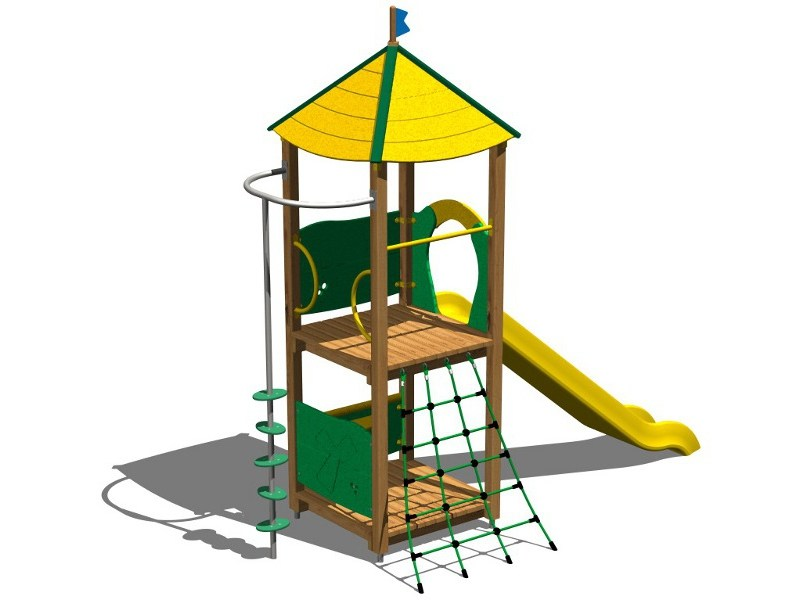 Wooden Play structure VOLPE by Legnolandia