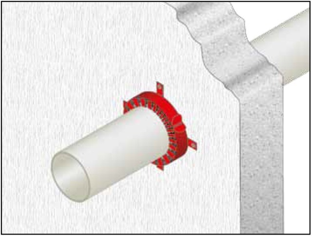 System to protect against fire penetration Protection against fire penetration - GLOBAL BUILDING