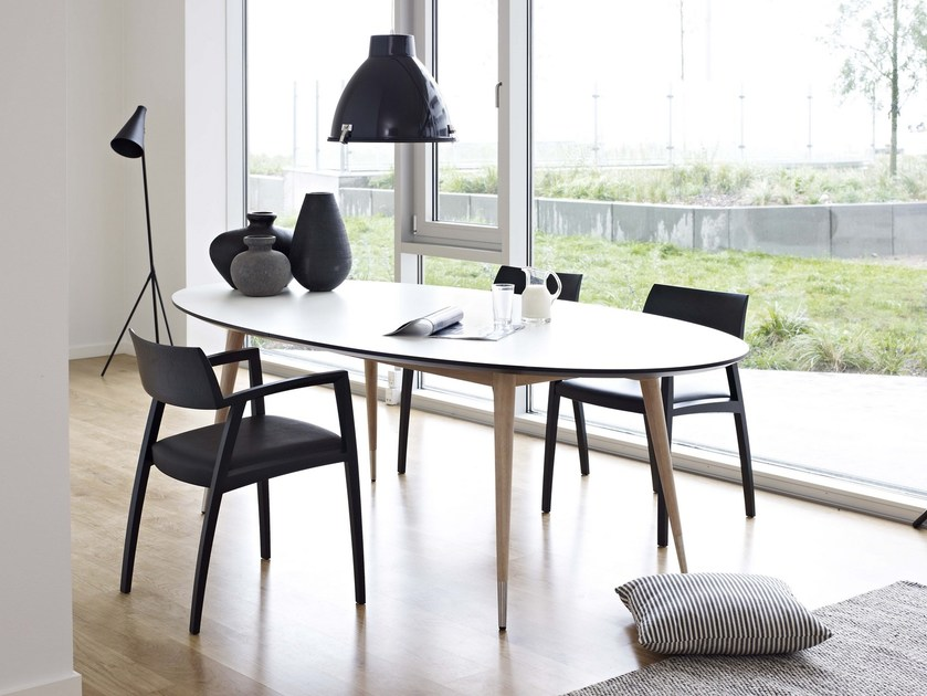 Table extensible ovale en stratifi gm 9944 by naver - Table ovale extensible ...