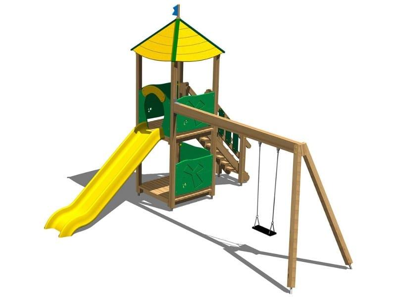 Pine Play structure TORRE DAINO by Legnolandia