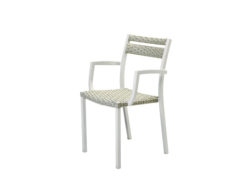 Ethimo LightWick® garden chair with armrests INFINITY | Garden chair - Ethimo
