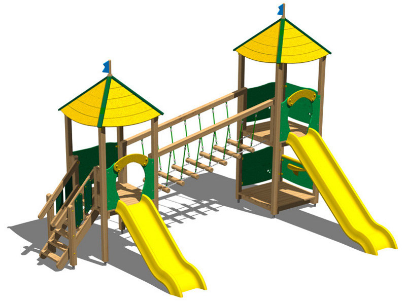 Pine Play structure CASTELLO PINETA by Legnolandia