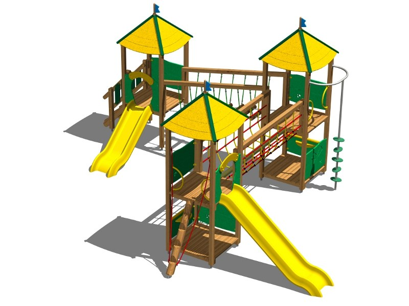 Pine Play structure CASTELLO TUNDRA by Legnolandia