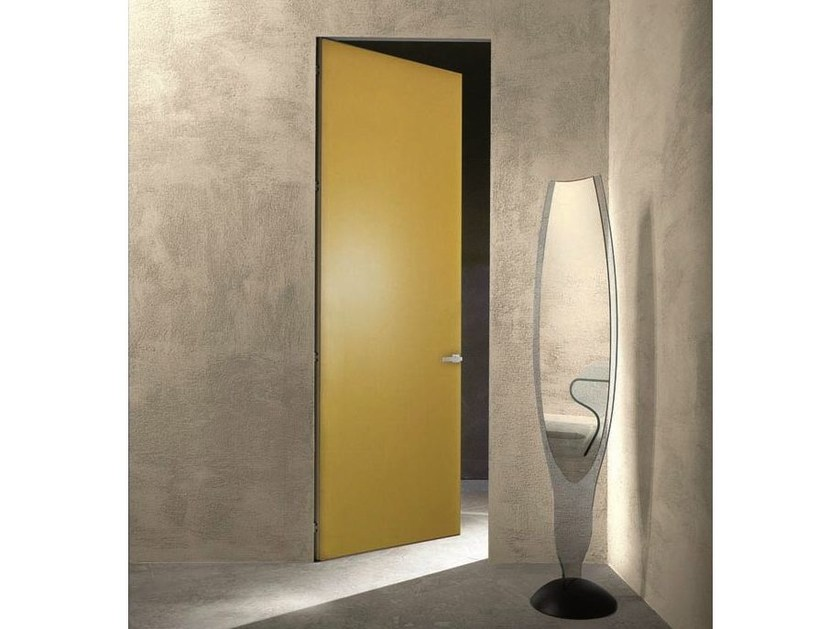 Hinged flush-fitting door ESSENTIAL ZERO swinging doors by SCRIGNO