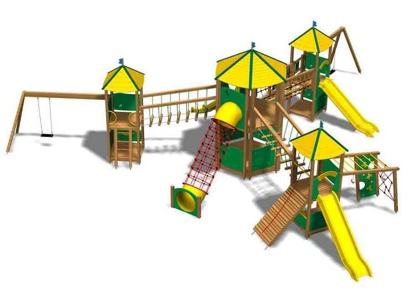 Pine Play structure CASTELLO HIMALAYA by Legnolandia