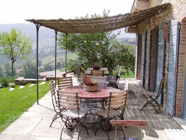 Wall-mounted iron pergola ROQUEBRUNE | Wall-mounted pergola by CAGIS - ROQUEBRUNE Wall-mounted Pergola By CAGIS