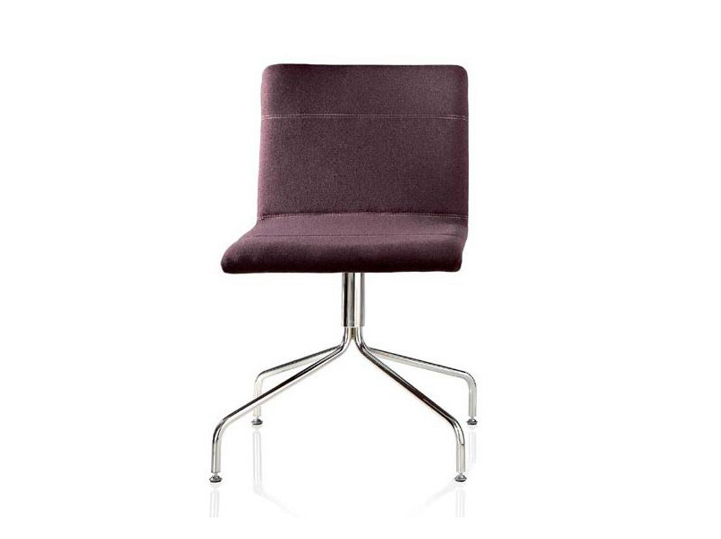 Swivel upholstered chair CASABLANCA | Trestle-based chair by ALMA DESIGN