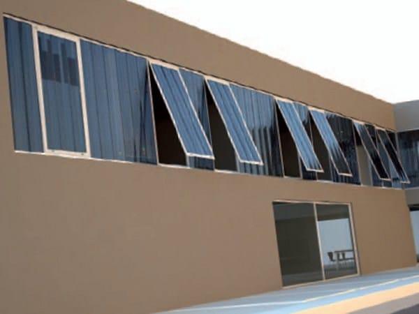 Finestra in alluminio con pannelli in policarbonato - Pannelli oscuranti per finestre ...