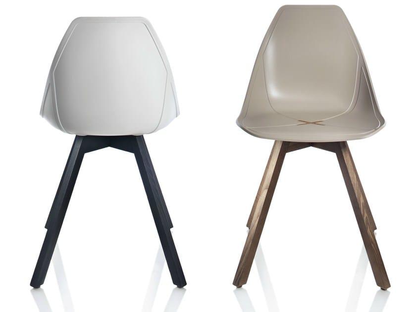 Polypropylene chair X WOOD by ALMA DESIGN