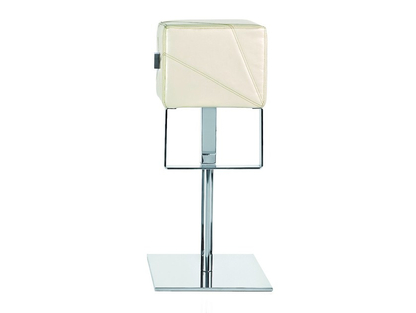 Height-adjustable stool with footrest CUBE | Stool - ALMA DESIGN