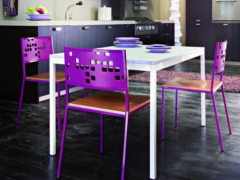 Tavolo rettangolare in laminato edward tavolo for Tavolo rettangolare design
