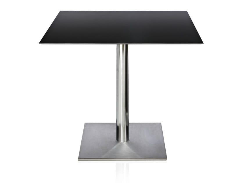Square hpl table priscilla by alma design design tria de for Table design for restaurant