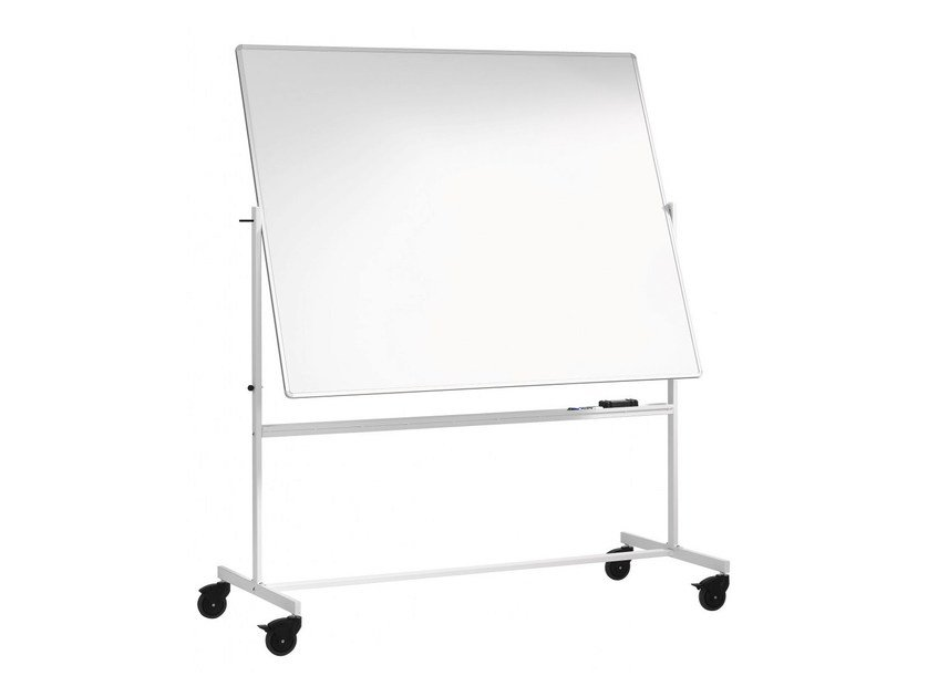 Swivel office whiteboard with casters MOBILE BOARDS - Abstracta