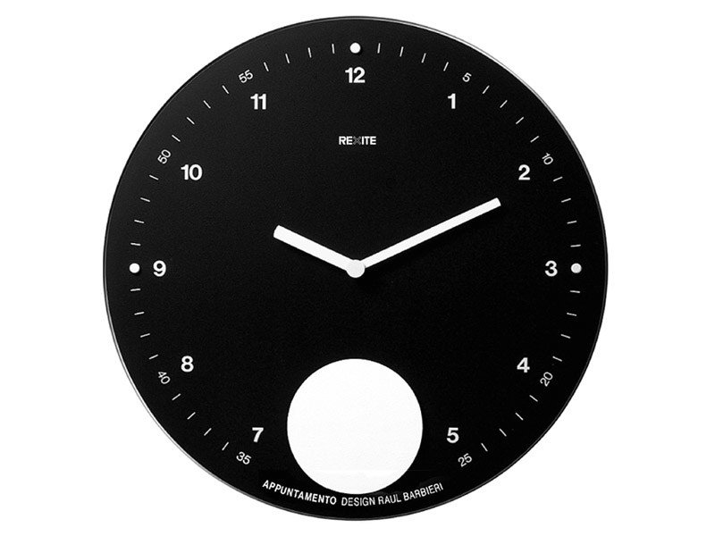 Pendulum wall-mounted clock APPUNTAMENTO by REXITE