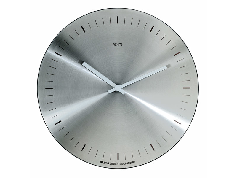Wall-Mounted brushed steel clock