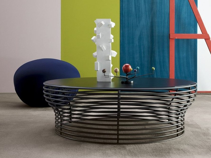 Table Basse Ronde En Acier Et Verre Orion By Bonaldo Design Jarrod Lim